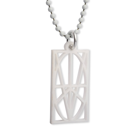 Picture of Women's White Acrylic Pendant